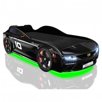 Кровать romack energy, 1700 х 800 мм, подсветка дна и фар, цвет чёрный