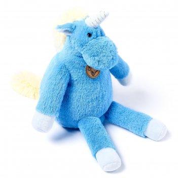 Мягкая игрушка единорог, 28 см, длинноногий, цвет голубой at365289