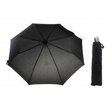 Зонт полуавтомат однотонный, цвет черный