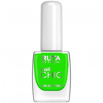 Лак для ногтей ruta nail chic, тон 58, салатовый неон