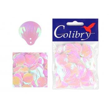 Пайетки фигурные голографические colibry