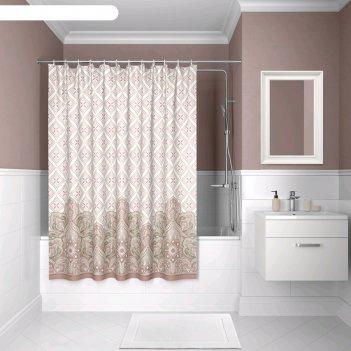 Штора для ванной комнаты iddis d08p218i11, 200x180 см, полиэстер