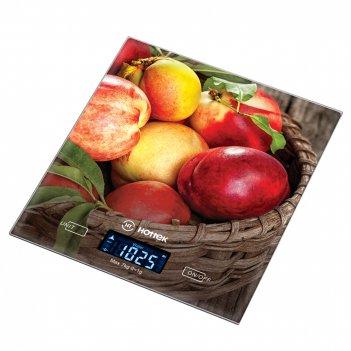 Весы кухонные сочные персики hottek ht-962-033 18*20см, макс.вес 7кг (кор=