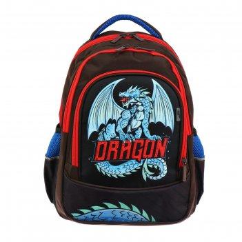 Рюкзак школьный с эргономичной спинкой luris гармония, 38 х 28 х 18, для м