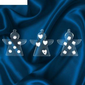 Набор шаров ангелочки с камушками (3 шт.)