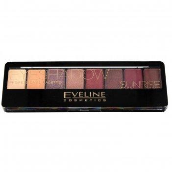 Тени для век eveline professional eyeshadow № 01 sunrise , 8 оттенков