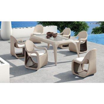 Комплект мебели из ротанга патио fox обеденная группа