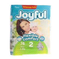 Подгузники «joyful» mini, 3-6 кг, 76 шт/уп