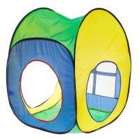 Игровая палатка веселый домик, разноцветная