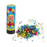 Хлопушка пружинная с днем рожденияшарики (конфетти+ фольга серпантин) 15см