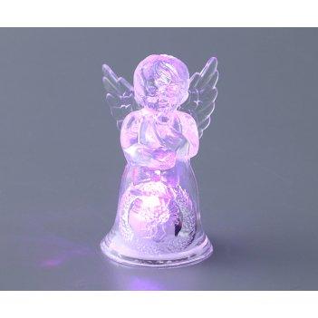 Фигурка ангелочек с подсветкой высота=8 см.