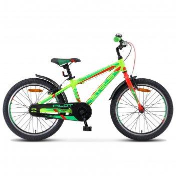 Велосипед 20 stels pilot-250 gent, v010. цвет неон-зеленый/неон-красный, р