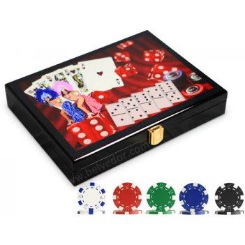 Набор для покера в деревянном ларце dice (200 фишек)