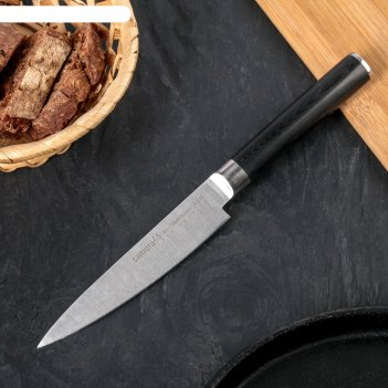Нож кухонный samura pro-s универсальный, лезвие 12 см, высокоуглеродистая