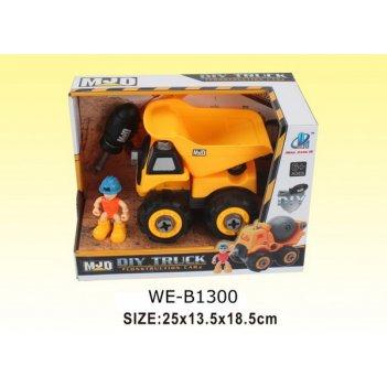 Машинка-конструктор собери сам спецтехника. грузовик, 25х13,5х