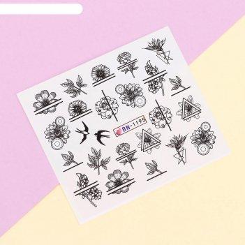 Наклейки для ногтей водные «floral print»