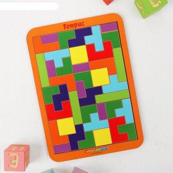 Рамка-вкладыш тетрис, 36 элементов, микс
