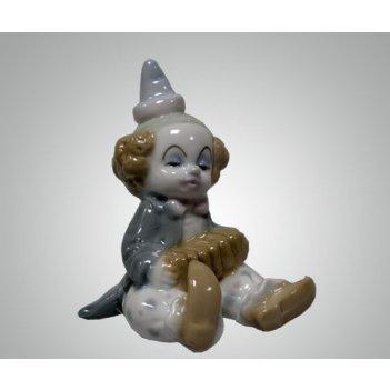 Фарфоровая статуэтка клоун