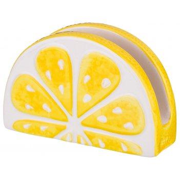 Салфетница лимон 15*5*10 см. (мал=4шт./кор=48шт.)