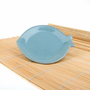 Блюдо сервировочное рыбка 20,5*17,2,5см. (min4) (керамика) (транспортная у