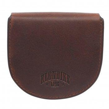 Монетница klondike dawson, натуральная кожа в коричневом цвете, 8,5x2x7,5