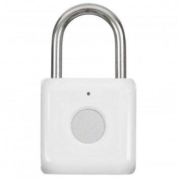 Умный замок digma smartlock p1, навесной, разбл.отпеч.пальца, 100мач, белы