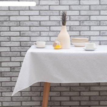 Скатерть журавинка 180х150 см, вмго, белый, хлопок 80%, пэ 20%, 190 гр