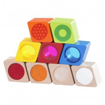 Деревянная игрушка радужные блоки чудеса, со звуковым эффектом