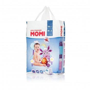 Подгузники-трусики momi high standard m (6-11 кг), 56 шт