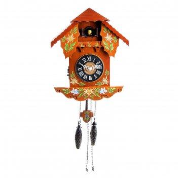 Часы настенные с кукушкой домик расписной
