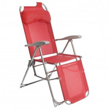 Кресло-шезлонг № 3, цвет гранатовый
