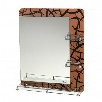 Зеркало в ванную комнату, двухслойное 80x60 см ассоona a632, 3 полки