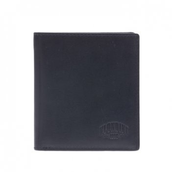 Бумажник klondike dawson, натуральная кожа в черном цвете, 9,5 х 2 х 10,5