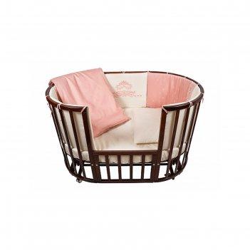 Комплект в кроватку prestigio pizzo, 6 предметов, цвет розовый