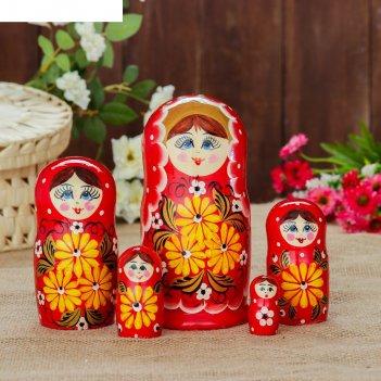 Матрешка «красотка с цветами», 5 кукольная, 17 см