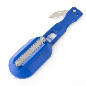 Рыбочистка 19*5,5*4см. (3вида) (нержавеющая сталь, полипропилен) (упаковка