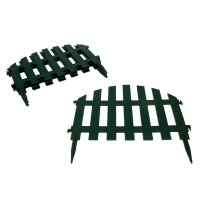 Забор декоративный, 40х34,5 см, 7 секций, длина 2,67 м, цвет зелёный уютны