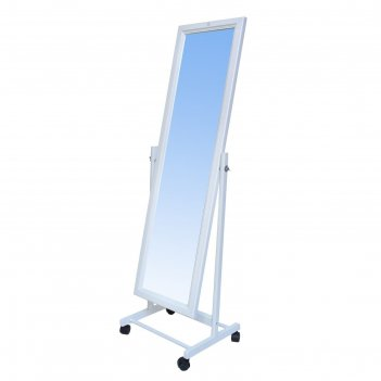 Зеркало напольное, 118х34 цвет белый