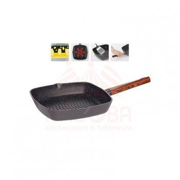 Сковорода-гриль oldra с антипригарным покрытием, 28х28 см 728820