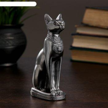 Статуэтка кошка египетская 15см / металлик