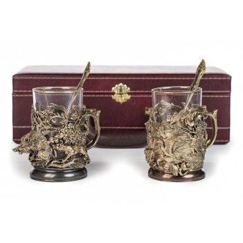 Чайная пара кабан утка