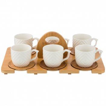 Кофейный набор на 6 персон native 12пр. 150мл на подставке 34,5*20 см. в=8