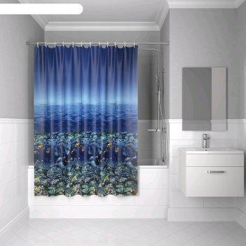 Штора для ванной комнаты iddis peva p25pv11i11, 180х180 см