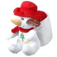 Набор подарочный этелька 2 предмета новый год снеговик-рюкзак, плед 75х100