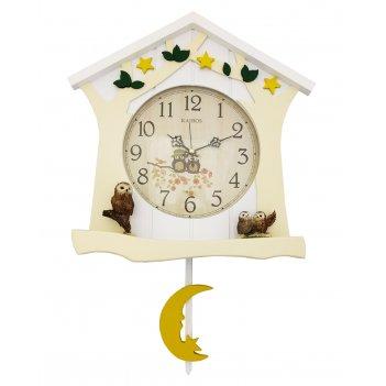 Настенные часы с маятником kairos ka 028w