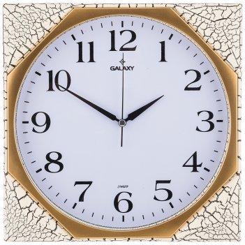 Часы настенные кварцевые  29,5*29,5 см диаметр циферблата 26,3 см (кор=20ш