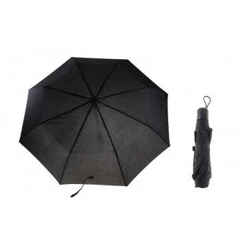 Зонт механический однотонный, цвет черный