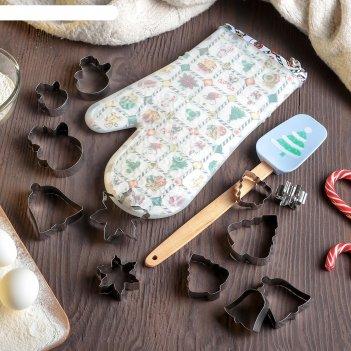 Набор конд принадлежностей ёлочка 3 пр: набор форм для печенья 12 шт, прих