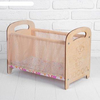 Кроватка люлька-манеж, с текстилем