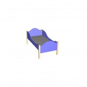 Кровать детская с бортиками, фигурные спинки, лдсп, дно из мдф 10 мм, цвет